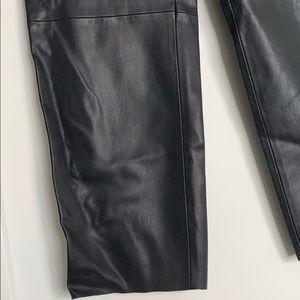 Zara Pants - Zara Faux Leather Ankle Crop Straight Leg Pants M